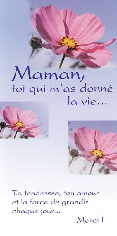 CMT04 CARTE DOUBLE -  Maman, toi qui m'a donné la vie