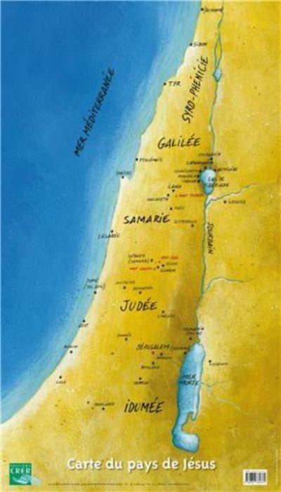 Carte du pays de Jésus