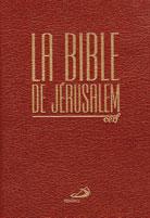 Bible de Jérusalem, La - (cartonnée verte, marron ou blanche)