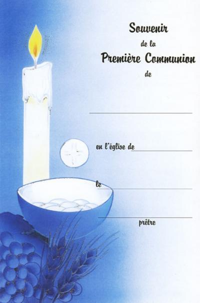 Certificat de l'eucharistie