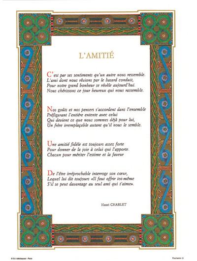 PARCHEMIN 03 L'AMITIÉ