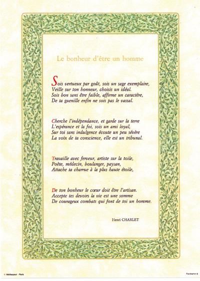 PARCHEMIN 06 LE BONHEUR D'ÊTRE UN HOMME