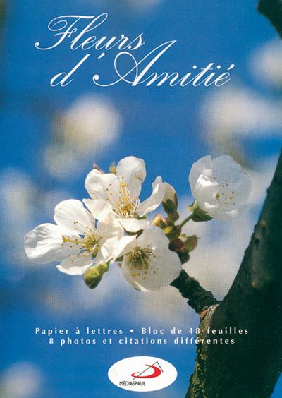 BPL 5 PAPIER A LETTRES FLEURS D'AMITIE